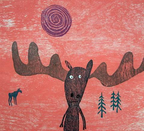 Bilde av Brors linse-elg av Gunhild Vegge og Lasse Kolsrud