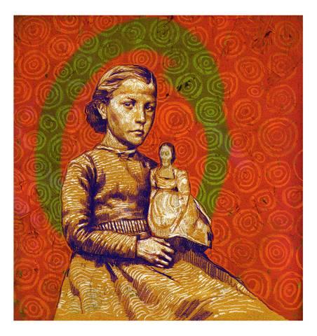 Bilde av Jente med dukke av Marius Græsby