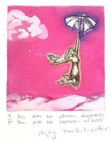 Bilde av Den som ser utover - drømmer ... av Bjørg Thorhallsdottir