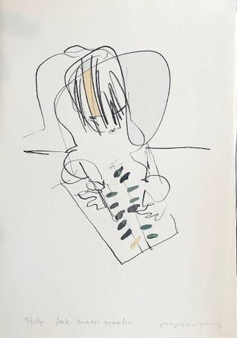 Bilde av Jack maler grantre av Ingri Egeberg