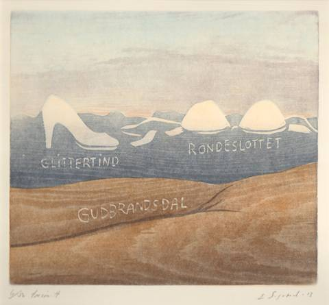 Bilde av Glittertind Rondeslottet Gudbrandsdal av Einar Sigstad