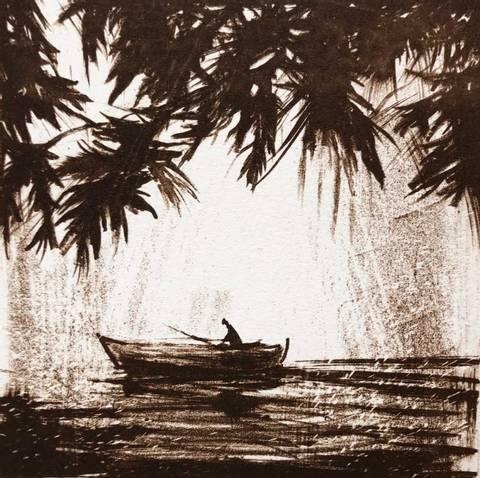 Bilde av Båten av Gro Mukta Holter