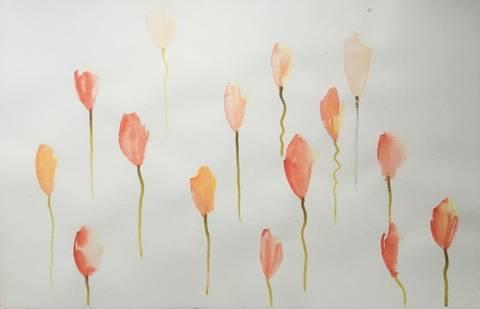 Bilde av Tulipan 3 av Elisabet Norseng m/ramme